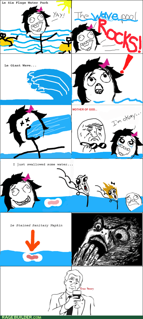 gross,Rage Comics,raisin horror,wave pool