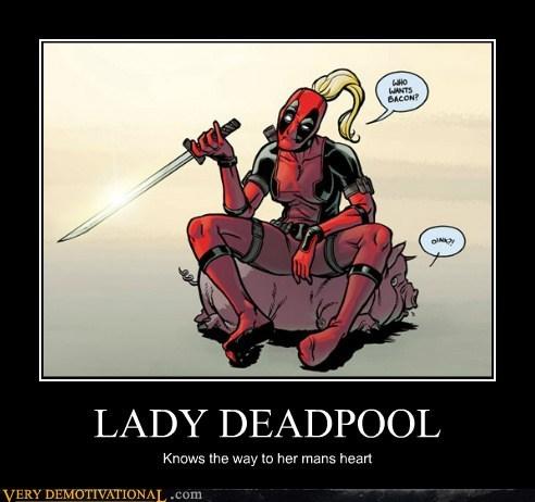 bacon deadpool hilarious lady - 6457246464
