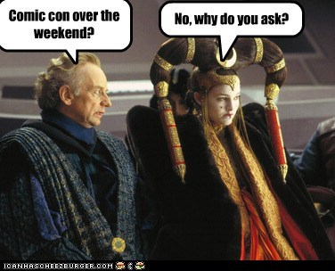 Awkward comic con Ian McDiarmid natalie portman padme queen amidala weekend why-do-you-ask