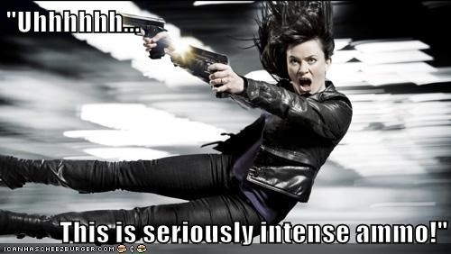 ammo,derp,diving,eve myles,face,firing,guns,Gwen Cooper,intense,jumping,Torchwood