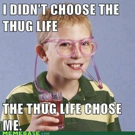 Memes,nerd,silly straw,thug life