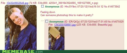 4chanstuff Memes paper bag photoshop Sad - 6457900032