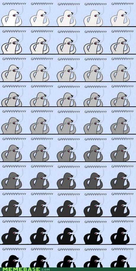 50 shades of grey books gay seal Memes - 6457901312
