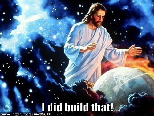 barack obama,jesus christ,political pictures,you-didnt-build-that