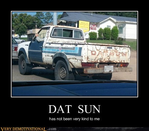 dat sun,hilarious,kind,old,truck