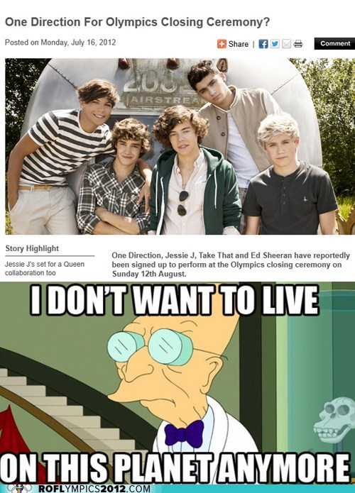 funny futurama meme Music olympics one direction - 6458576384