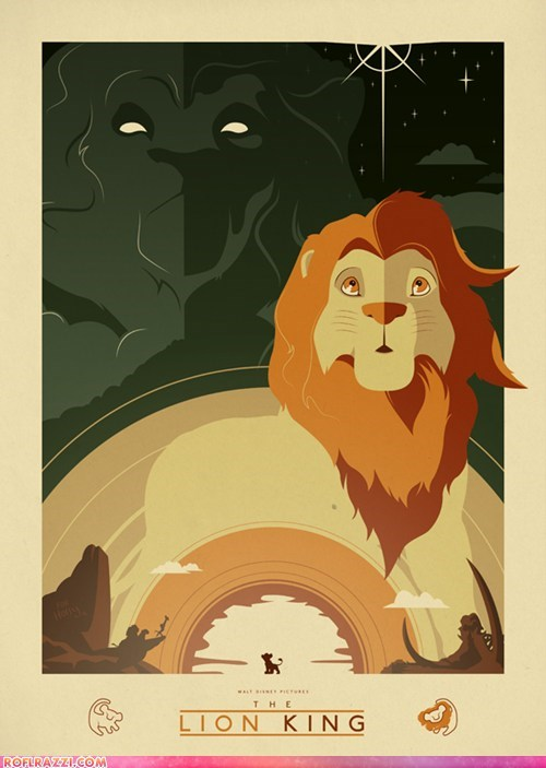animation art cool disney Movie poster the lion king