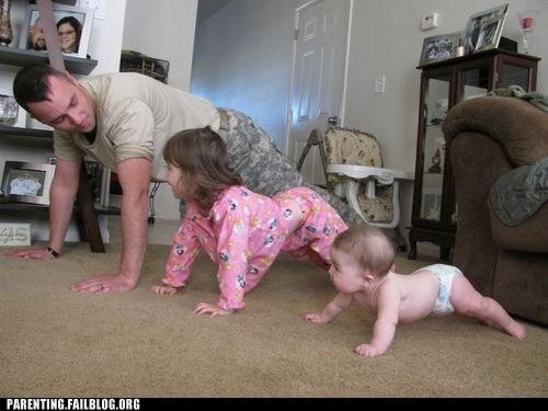 baby,military,pushups