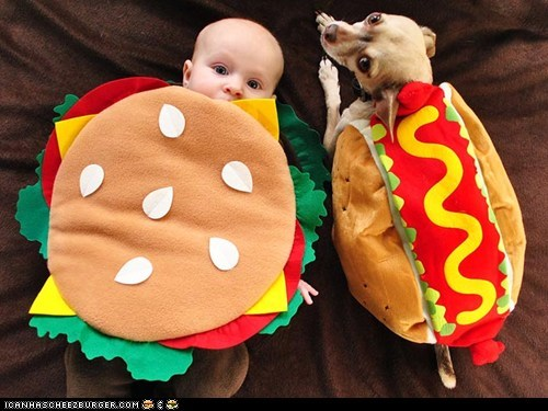 around the interwebs,costume,dogs,hotdogs,people pets