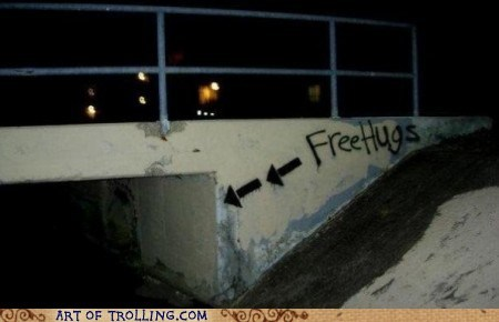 bridge,Free Hugs,IRL,seems legit