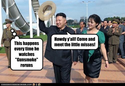 annoyed cowboy gunsmoke howdy impression kim jong-un reruns Ri Sol Ju ri sol-ju western - 6459194880
