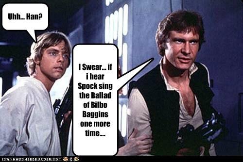 Bilbo Baggins Han Solo Harrison Ford luke skywalker mark hamil mixup Spock star wars - 6459267584