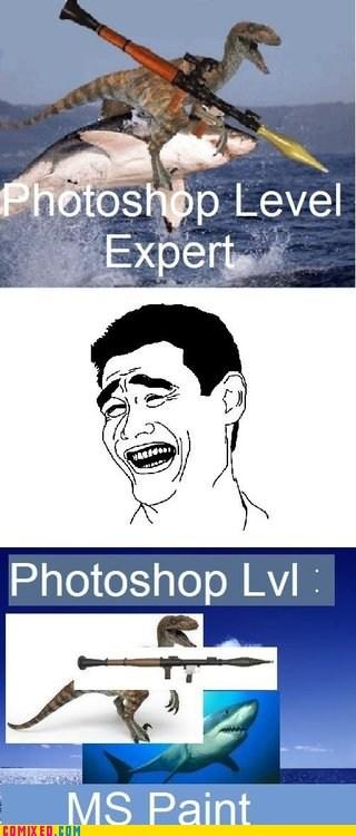 ms paint photoshop rocket launchers sharks shopped pixels the internets - 6459287552