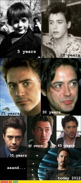 celeb evolution Memes movies robert downey jr the internets - 6459383552