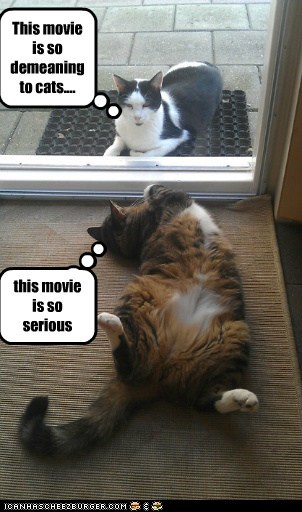 this movie is so serious This movie is so demeaning to cats....