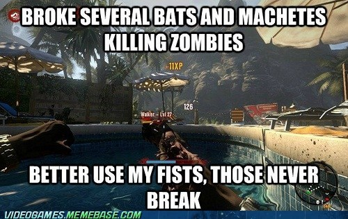 Dead Island,fists,logic,the internets,zombie
