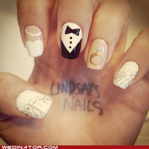 funny wedding photos manicure nail art nails - 6459467520
