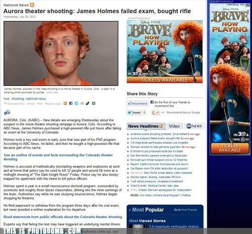 advertising,Awkward,brave,james holmes,the dark knight rises,tragic