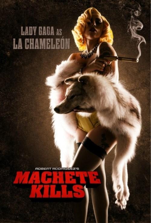 celeb lady gaga machete kills Movie Music poster robert rodriguez - 6459553536