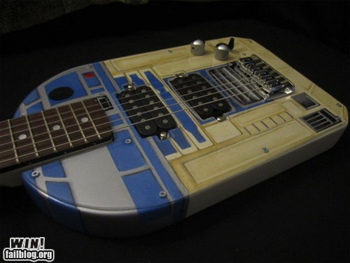 custom DIY guitar Music nerdgasm r2-d2 star wars - 6459666688