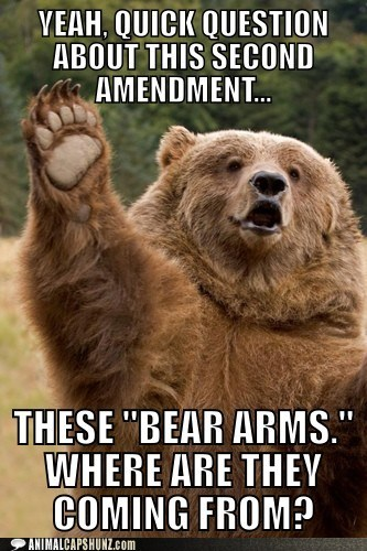 arms bear best of the week captions Hall of Fame question second amendment the right to bear arms - 6459933952