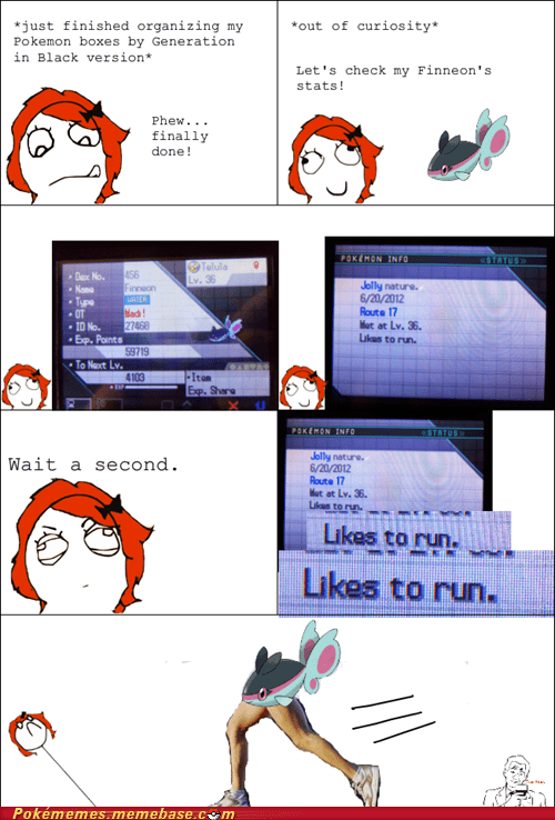 finneon likes to run pokemon info rage comic Rage Comics - 6459947776