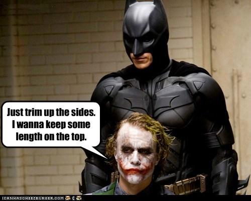 batman bruce wayne christian bale haircut heath ledger job the dark knight the joker - 6460089600