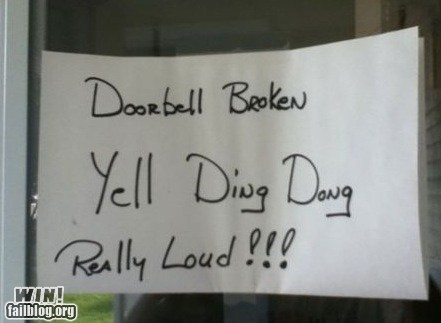 doorbell,fix,repair,sign