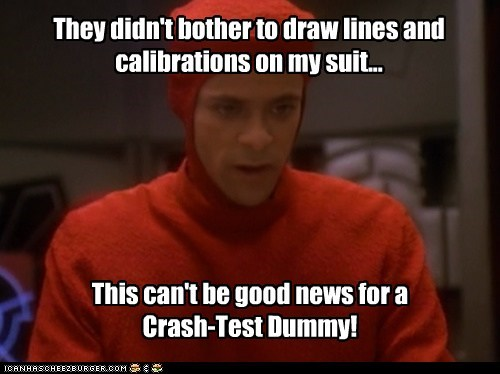 alexander siddiq calibrations crash test dummy Deep Space Nine dr-bashir Star Trek suit - 6460577024