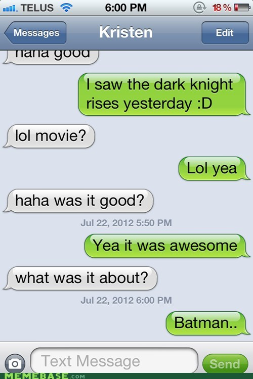 batman,movies,sms