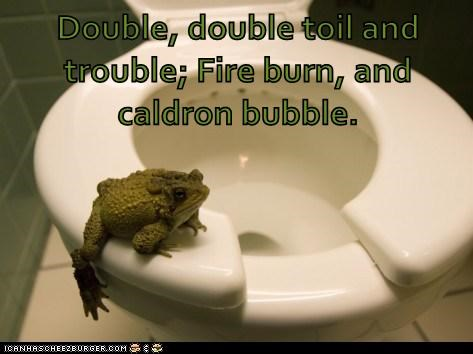 captions cauldron conjuring frog macbeth toilet witch - 6460731904