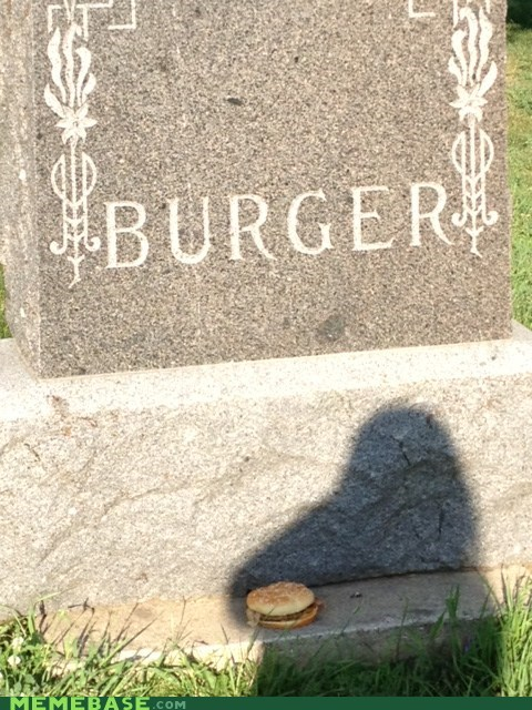burger gravestone IRL rip - 6460794880