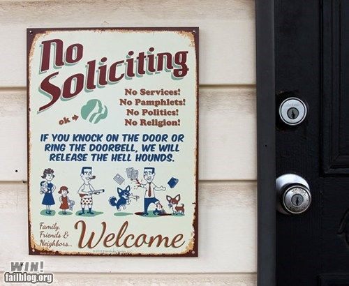 No Soliciting Sign WIN