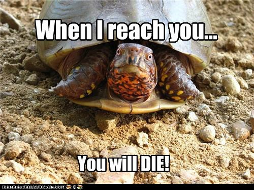 When I reach you... You will DIE!