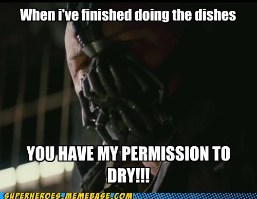 bane chores dishes dry Super-Lols - 6461172224