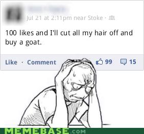 facebook goat likes Memes - 6461238528