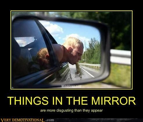 car eww hilarious mirror