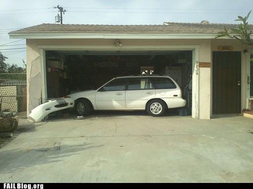 car accident,garage,parking