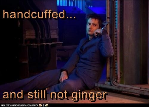 David Tennant,ginger,handcuffs,miserable,Sad,the doctor