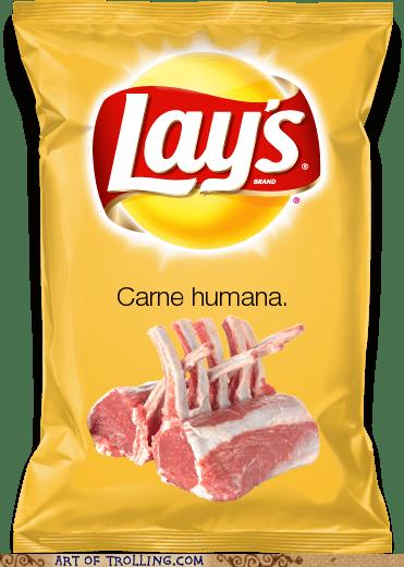 flavors human flesh Lays - 6461694464