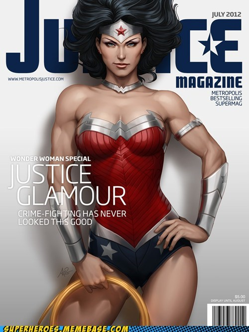Awesome Art glamour justice wonder woman - 6461845504