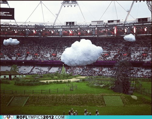 clouds,liveblog,London 2012,olympics,opening ceremonies