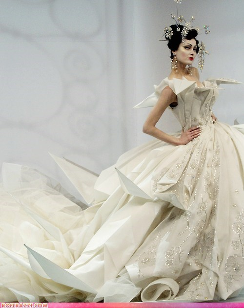 funny celebrity pictures haute couture john galliano runway - 6461909760