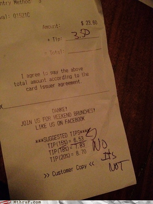 g rated math math fail monday thru friday receipt restaurant tip - 6461926144