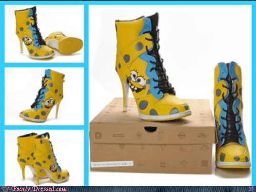 custom g rated heels poorly dressed shoes SpongeBob SquarePants what - 6461940480