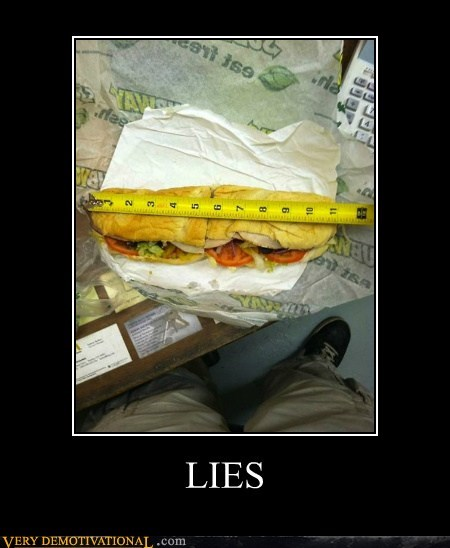 11 inches foot long hilarious sandwich Subway - 6462067456