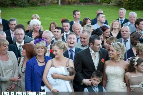 awesome crowd good side scary face wedding