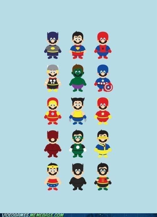 crossover mario power ups superheroes - 6462168320