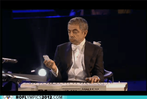actor celeb liveblog London olympics rowan atkinson