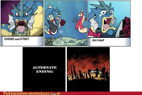 Alternate Ending,attract,best of week,comic,gyarados,hyper beam,Sad